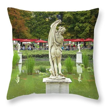 Tuileries Trollop Throw Pillow