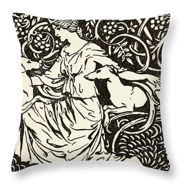 Tuiren With Bran And Sceolan Throw Pillow
