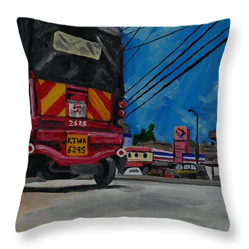 Tuk Tuk Throw Pillow