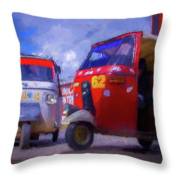 Tuk Tuks  Throw Pillow