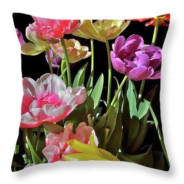 Tulip 8 Throw Pillow by Pamela Cooper