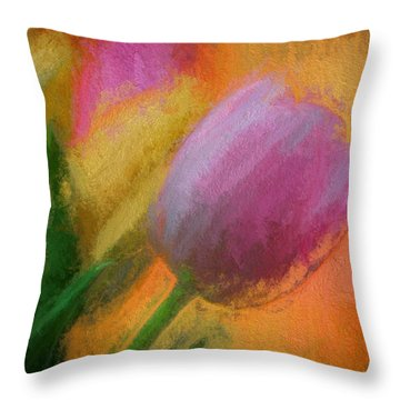 Tulip Abstraction Throw Pillow