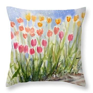 Tulip Abunda Throw Pillow