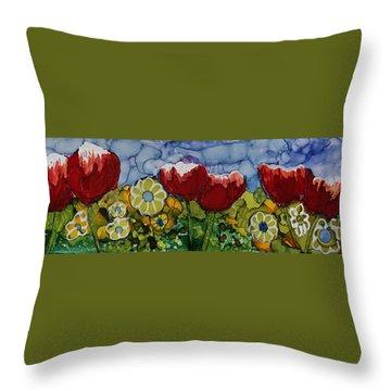Tulip Bonanza Throw Pillow