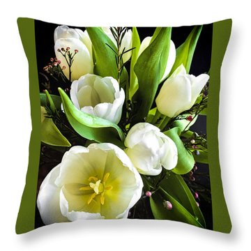 Throw Pillow featuring the photograph Tulip Bouquet by Andrew Soundarajan
