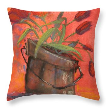 Tulip Bucket Throw Pillow