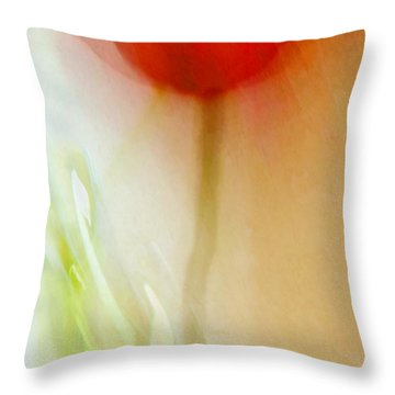 Tulip Dancer Throw Pillow by Patricia Strand