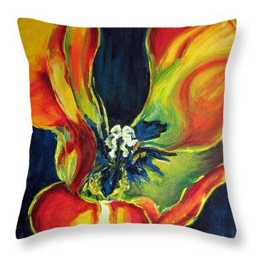 Throw Pillow featuring the painting Tulip by Dragica  Micki Fortuna