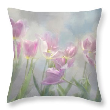 Tulip Dreams Throw Pillow