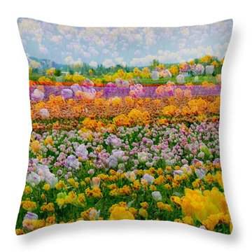 Throw Pillow featuring the photograph Tulip Dreams by Tom Vaughan