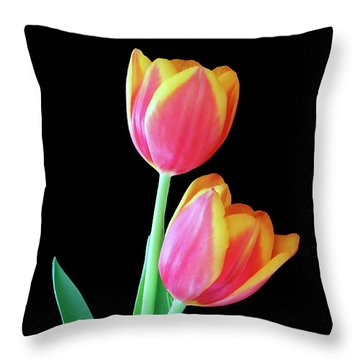 Tulip Duo Throw Pillow