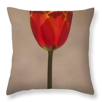 Tulip En Fuego Throw Pillow