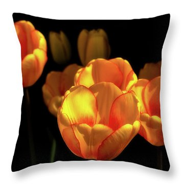 Tulip Festival Participants Throw Pillow