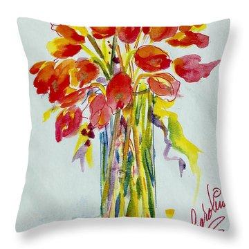 Tulip Fire Element Throw Pillow