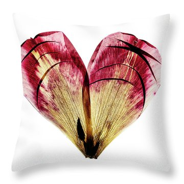 Tulip Heart Throw Pillow
