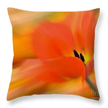 Tulip In Motion Throw Pillow