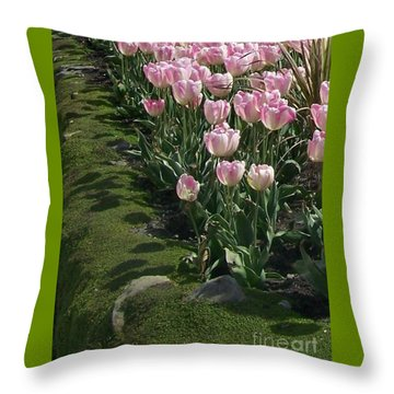 Throw Pillow featuring the photograph Tulip Parade by Jolanta Anna Karolska