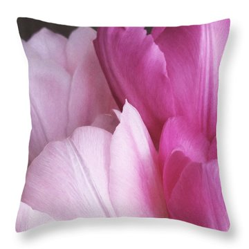 Throw Pillow featuring the digital art Tulip Petals by Julian Perry