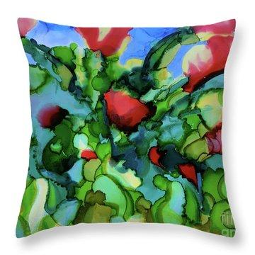 Tulip Poppy Throw Pillow