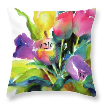 Tulip Pot Throw Pillow