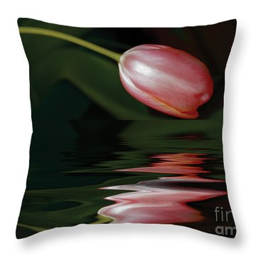 Tulip Reflections Throw Pillow