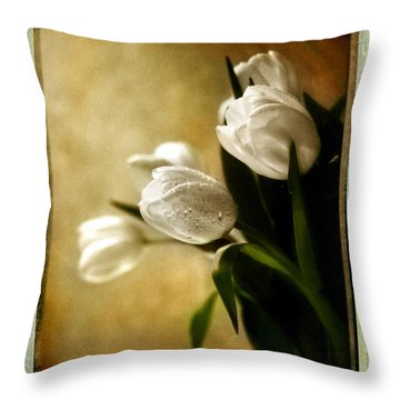 Tulip Side Sepia Throw Pillow