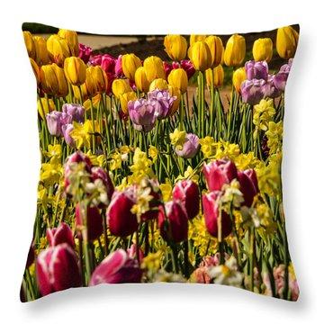 Tulip Spring Throw Pillow