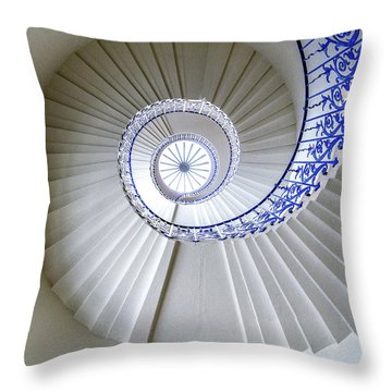 Tulip Staircase Throw Pillow by Jae Mishra