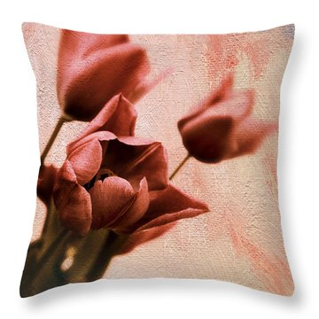Throw Pillow featuring the photograph Tulip Whimsy by Jessica Jenney