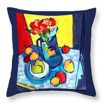 Tulip Still Life Throw Pillow