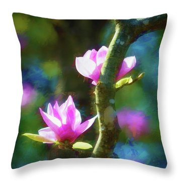 Throw Pillow featuring the photograph Tulip Tree by James Barber