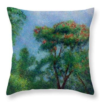 Tulip Tree Throw Pillow by Kenneth Grzesik