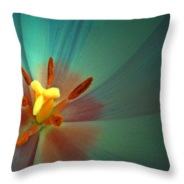 Tulip Trends Throw Pillow by Gwyn Newcombe