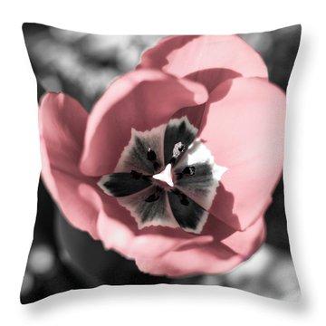 Tulip Up Close Throw Pillow