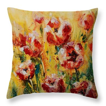 Tulip Waltz Throw Pillow