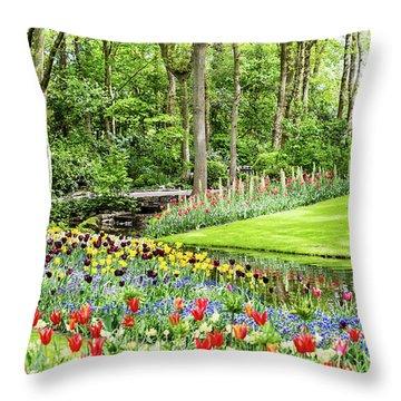 Tulip Wonderland - Amsterdam Throw Pillow