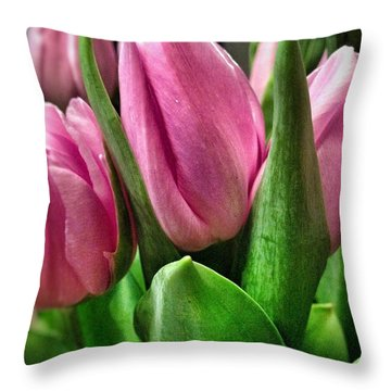 Throw Pillow featuring the photograph Tulip143 by Olivier Calas