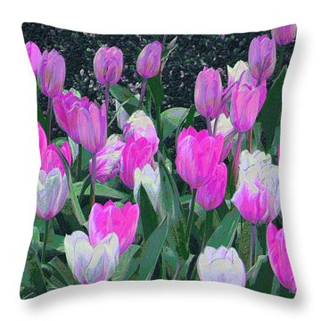 Tulips 327dp Throw Pillow