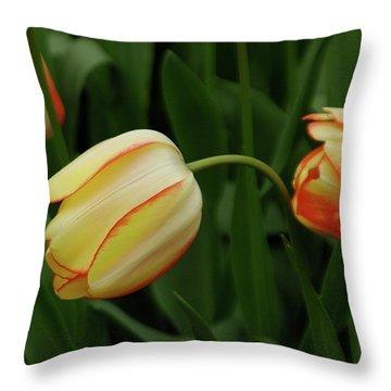 Nodding Tulips Throw Pillow