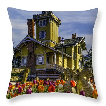 Tulips Af Hereford Light Throw Pillow