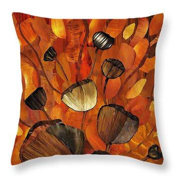 Tulips And Violins Throw Pillow