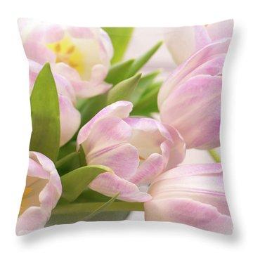 Tulips Bouquet Throw Pillow
