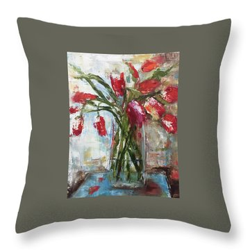 Lunch With The Ladies Throw Pillow