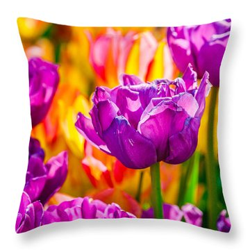 Throw Pillow featuring the photograph Tulips Enchanting 41 by Alexander Senin