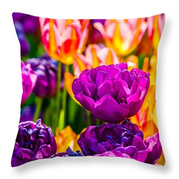 Throw Pillow featuring the photograph Tulips Enchanting 42 by Alexander Senin