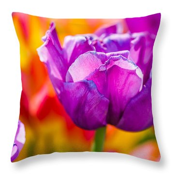 Throw Pillow featuring the photograph Tulips Enchanting 43 by Alexander Senin
