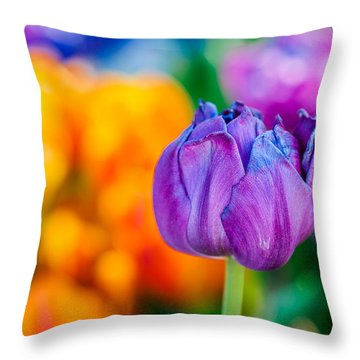 Throw Pillow featuring the photograph Tulips Enchanting 46 by Alexander Senin