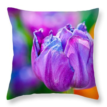 Throw Pillow featuring the photograph Tulips Enchanting 47 by Alexander Senin