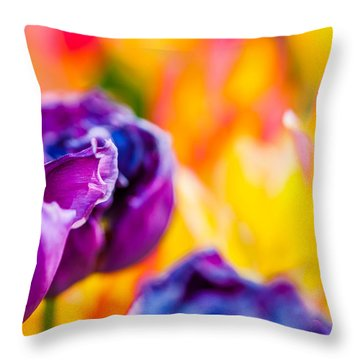 Throw Pillow featuring the photograph Tulips Enchanting 49 by Alexander Senin