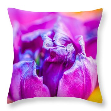 Throw Pillow featuring the photograph Tulips Enchanting 50 by Alexander Senin